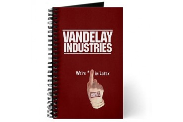 Vandelay Industries Latex Company Notebook Architecture Journal by CafePress