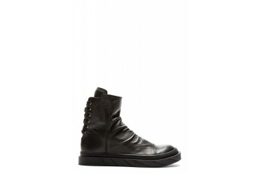 D.gnak By Kang.d Black Lace up Heel Leather Boots