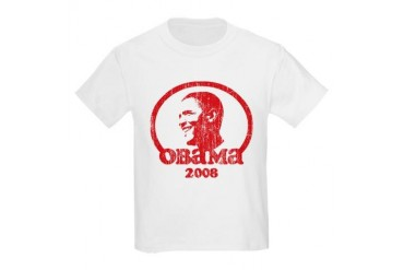 Vintage Barack Obama 2008 (re Kids Light T-Shirt