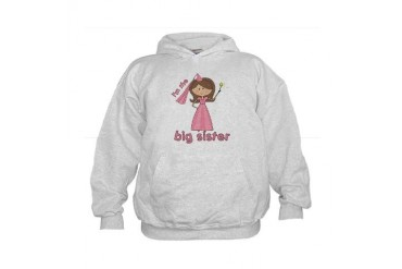i'm the big sister princess Kids Hoodie