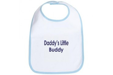 Daddy's Little Buddy Baby boy Bib by CafePress