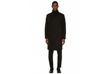 Rad By Rad Hourani Black Wool Boucl Coat