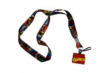 Marvel Comics Comic Cover Collage Charm Lanyard