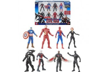Marvel Captain America Civil War Avengers 8pk Iron Man Spiderman Falcon
