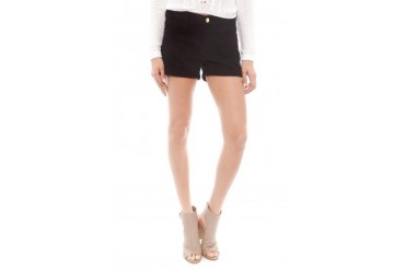 Frame Denim Le Cutoff Cuffed Jean Short in Noir - designed by FRAME Denim