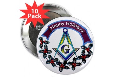 Masonic Holiday Holiday 2.25 Button 10 pack by CafePress