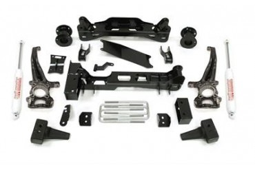 Trail Master 6.0 Inch Knuckle Suspension Lift Kit with Rear NGS Shocks TM403N Complete Suspension Systems and Lift Kits