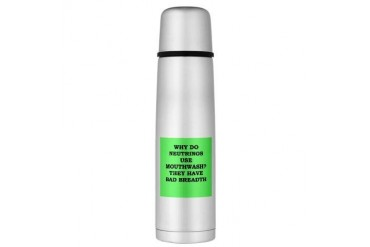 physicst Large Thermos Bottle Funny Large Thermosreg; Bottle by CafePress