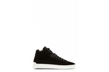 Rag And Bone Black Suede Kent High top Sneakers