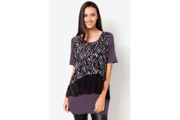 VnJ Long Blouse With Lace Details