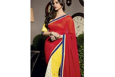 Scintillating Daisy Shah Printed Georgette Saree