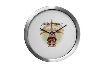 Beary Christmas 1680x1380.png Holiday Modern Wall Clock by CafePress