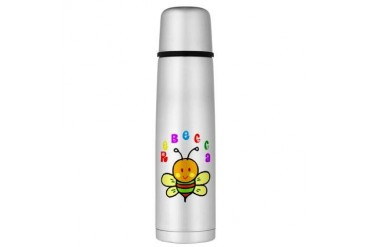 Rebecca Large Thermos Bottle Cute Large Thermosreg; Bottle by CafePress