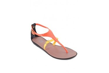 Bicolor Jelly Sandals