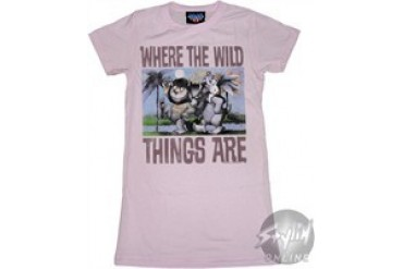 Where the Wild Things Are Buddies Ride Baby Doll Tee by JUNK FOOD