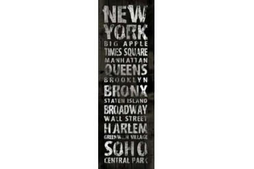 NEW YORK Poster Print by Jace Grey (12 x 36)
