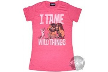Where the Wild Things Are I Tame Wild Things Baby Doll Tee by JUNK FOOD