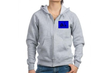 Retro Scooter Art Retro Women's Zip Hoodie by CafePress