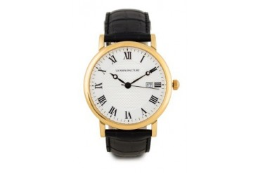 La Manufacture Classic Gold MX3301AE Watch with Black Leather Strap