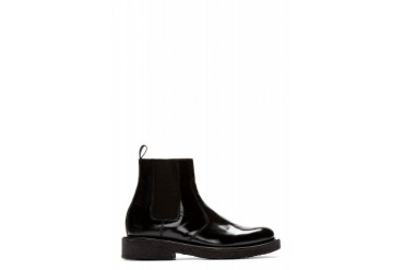Ami Alexandre Mattiussi Black Leather Heavy Sole Chelsea Boots