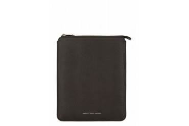 Marc By Marc Jacobs Black Grained Leather Ipad Sleeve
