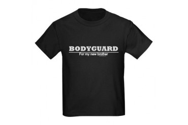 Bodyguard for my new brother- Kids Dark T-Shirt