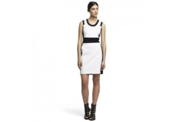 Clarisse Stretch Knit Color-Block Dress