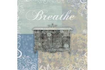 Breathe Bath Tub Poster Print by Lauren Gibbons (24 x 24)