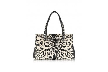 Regina Small Animal Print Leather Satchel