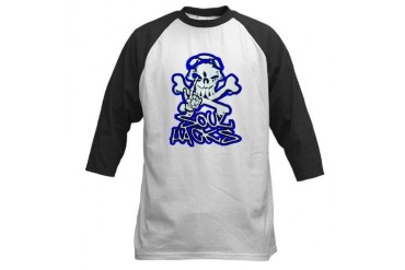 SOULHACKS Skull Baseball Jersey by CafePress