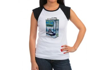 100 Pure Car Racks Sports sports Women's Cap Sleeve T-Shirt by CafePress