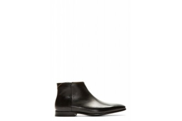 Ps By Paul Smith Black Leather Dove Chelsea Boots