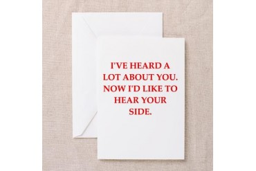 you Funny Greeting Card by CafePress