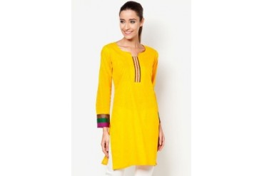 HiDY Faux Mirror-work Yoke Kurti
