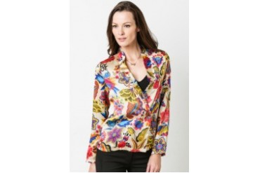 Giordanna Printed Double Breasted Blazer