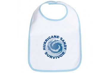 Hurricane Sandy Survivor 2012 New york Bib by CafePress