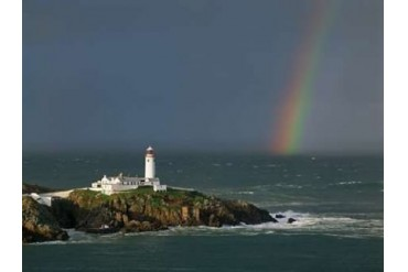 Rainbow over Fanad-Head Ireland Poster Print by Jean Guichard (22 x 28)