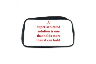 chemistry joke Funny Toiletry Bag by CafePress