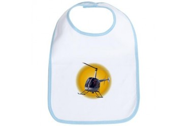 Helicopter Gifts Baby Helicopter Baby Gifts Cool Bib by CafePress