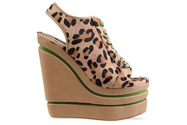 Senso Madison in Beige Leopard Green Laces size 6.0