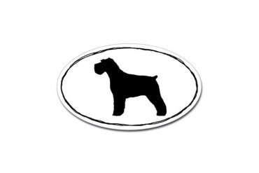 Schnauzer Sticker Natural Ears Pets Sticker Oval by CafePress