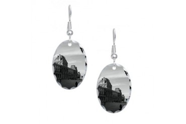 Paris Art Earring Oval Charm by CafePress