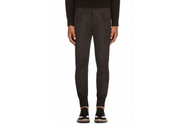 Paul Smith Grey Suede Trousers