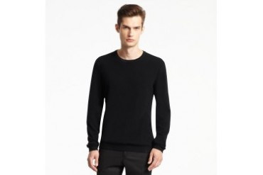 Crewneck Sweater With Leather