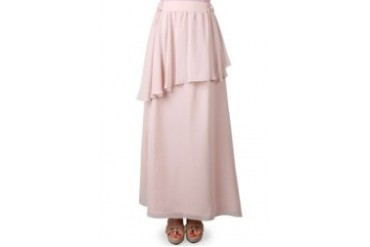 intanfahilla Rok Henly Chiffon Creme
