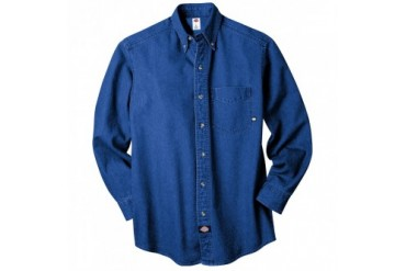 Dickies Apparel Long-Sleeve Button-Down Denim Shirt