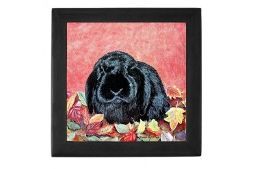 Holland Lop Rabbit Pets Keepsake Box by CafePress