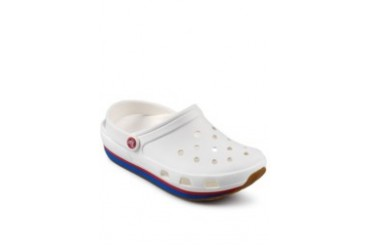 Crocs Retroclog White Red