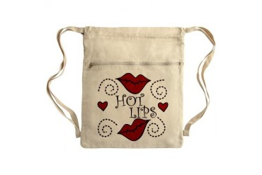 Hot Lips Sack Pack Holiday Cinch Sack by CafePress