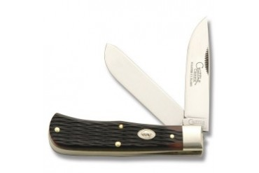 Cripple Creek 2-Blade Trapper with Amber Jigged Bone Handle